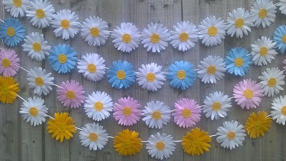 Felt Daisy Dekorácie Veľkonočné Výzdoba Yellow U0026 White