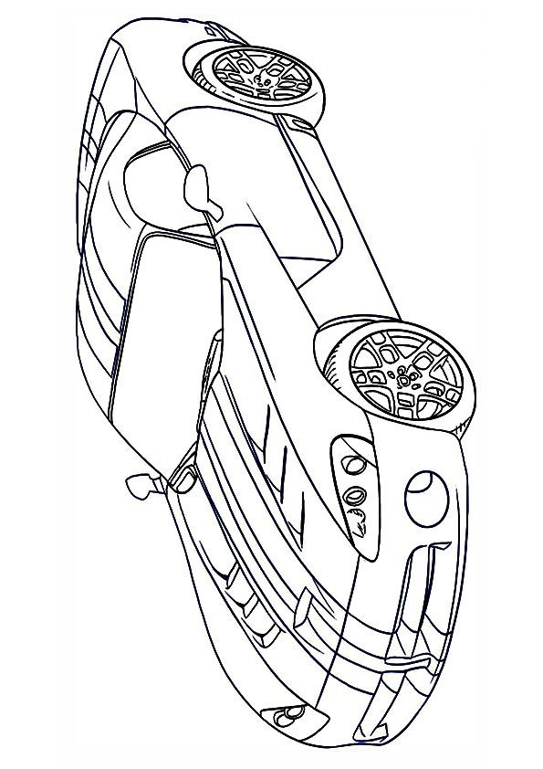 Muscle Dodge Viper Car Coloring Pages Car Drawings Color