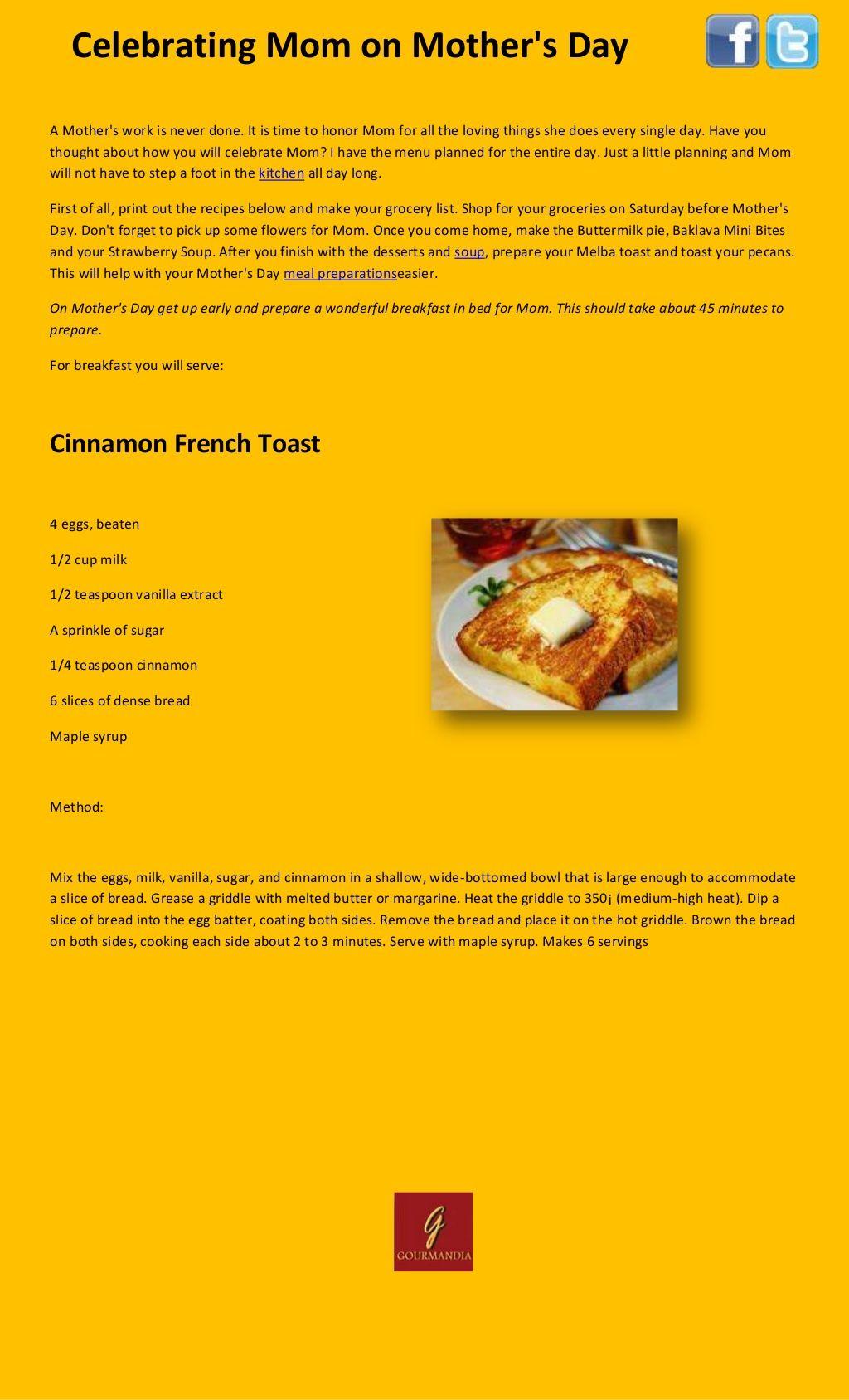 cinnamon-french-toast-for-you-mom by Cody Bosh via Slideshare