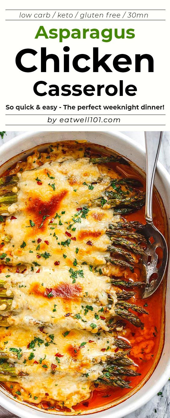 Asparagus Chicken Casserole with Mozzarella images