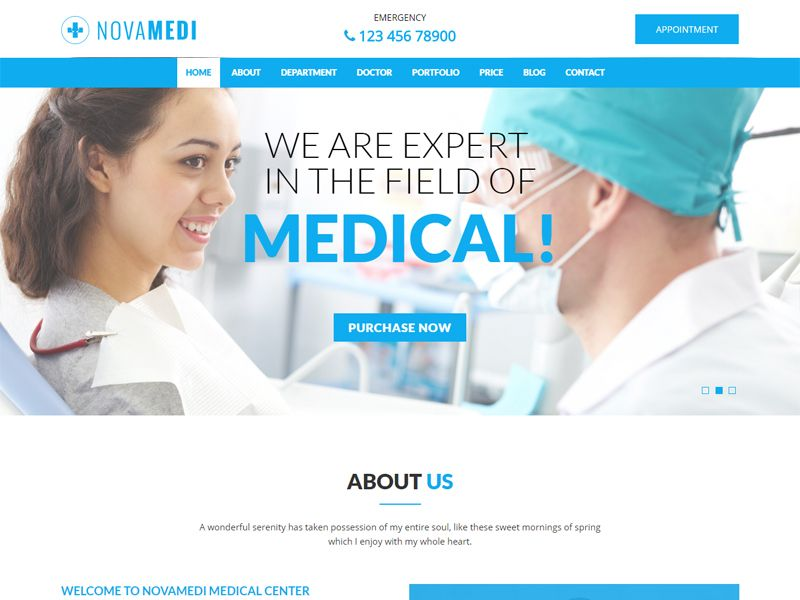 Novamedi – Medical Free HTML Template is a simple, creative and ...