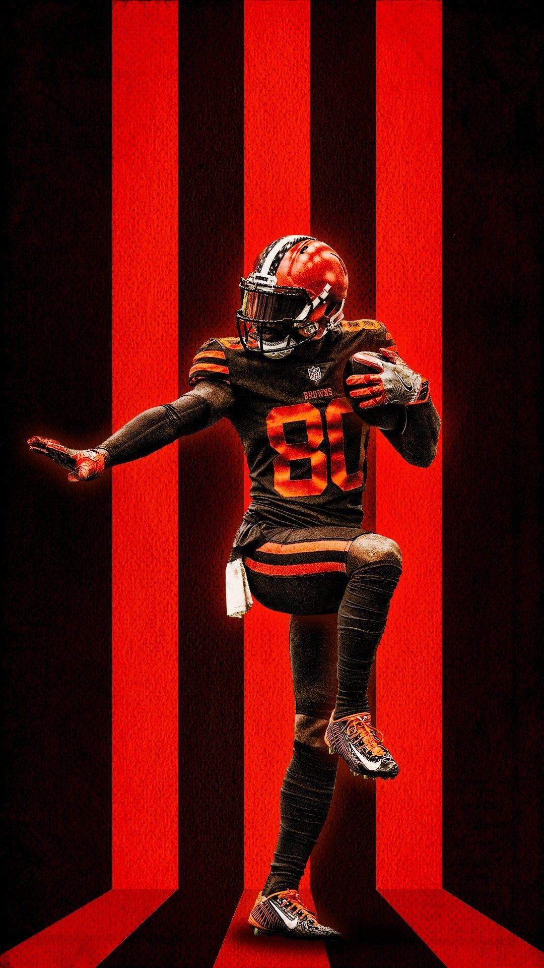Browns Jarvis Landry Color Rush Nfl Cleveland Browns Wallpaper Cleveland Browns Football