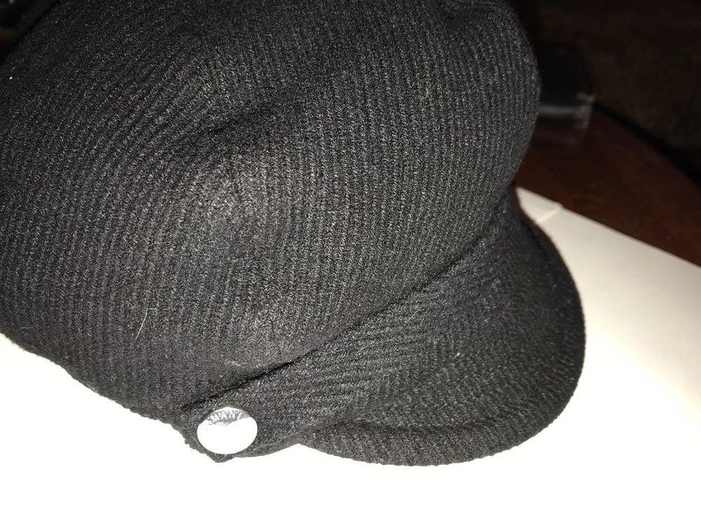 super service erstaunliche Qualität online hier ARMANI EXCHANGE A/X black Wool Blend cap Size small | eBay ...