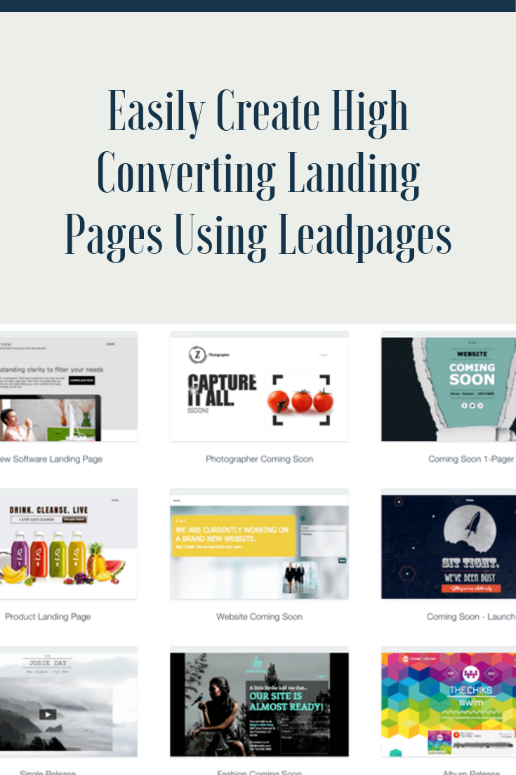 Specifications For Leadpages