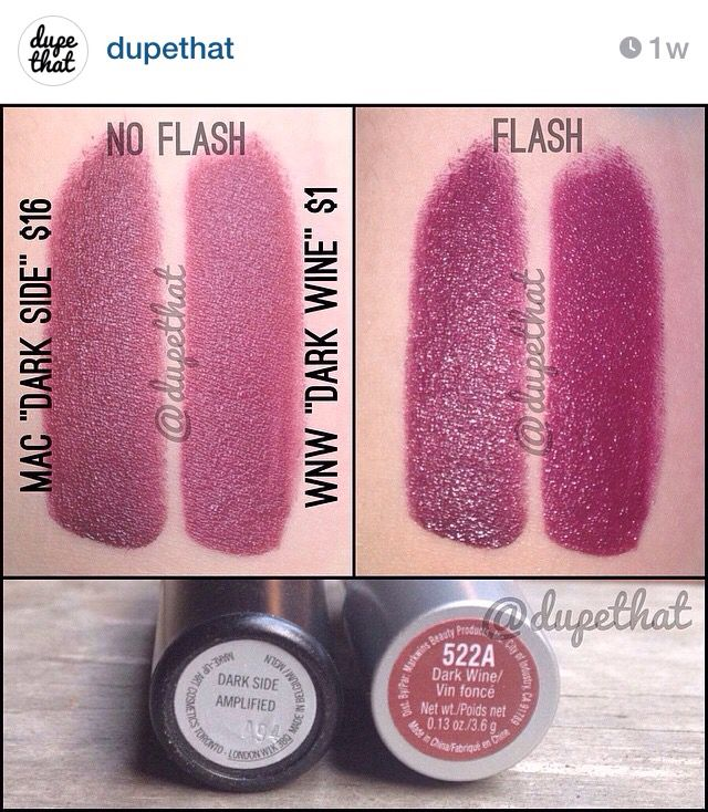 dupe for mac dark side wnw dark wine from quotdupethatquot on