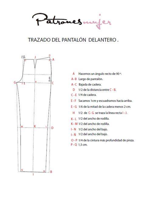 Trazado del pantalón base | susana | Pinterest | Patronaje, Patrones ...