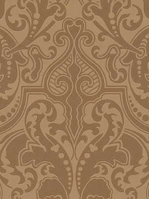 DecoratorsBest - Detail1 - LWP65712W - GWYNNE DAMASK - SADDLE - Wallpaper - - DecoratorsBest