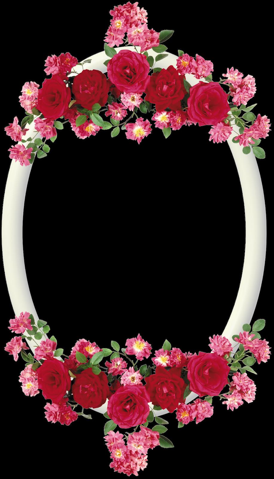 Marcos para fotos marcos ovalados con flores template - Marcos de cuadros para fotos ...