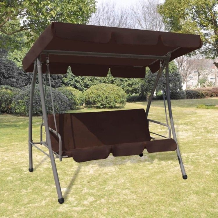 Outdoor Swing Chair Bed Canopy Brown Patio Hanging Benches Back Cushion Seats Ebay Swing Chair Outdoor Swinging Chair Outdoor Swing