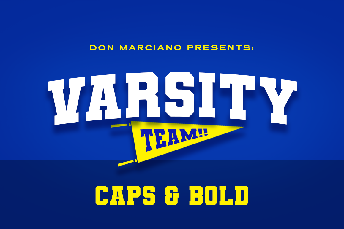 Varsity Team Sports Font (292940) Logo Font Bundles