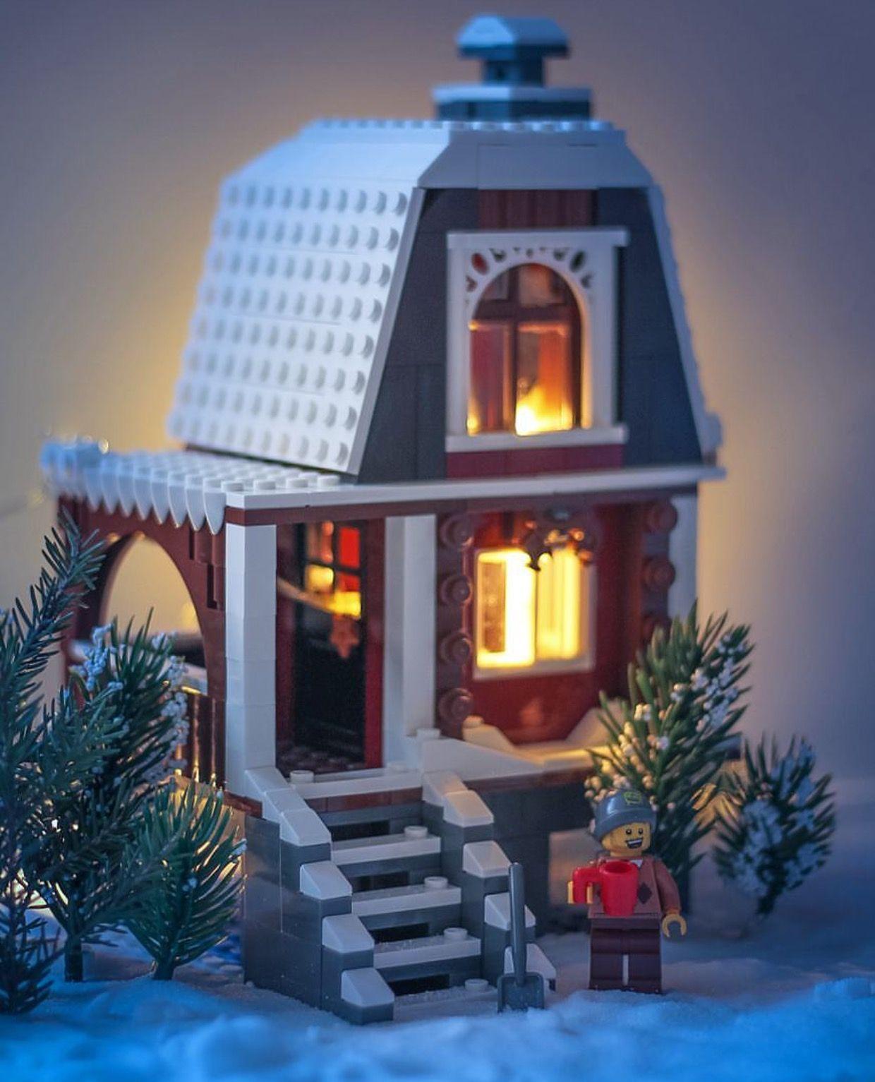 A Lego Winter Cottage Lego Winter Lego House Lego Christmas