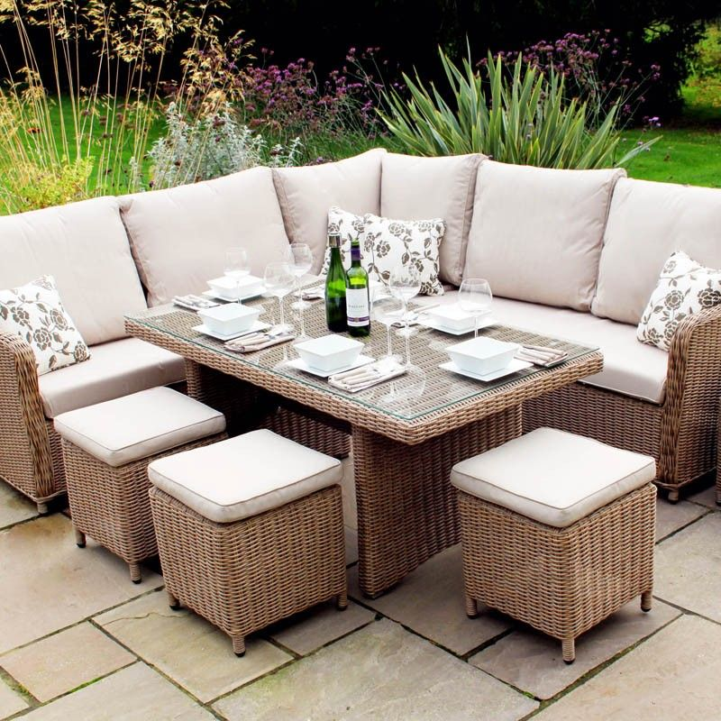 Saigon Heritage Highback Modular Dining Set. Simply Gorgeous Weave Outdoor  Furniture With Garden Dining Table