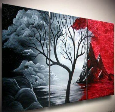 Abstract Nature Trilogy Manosart Misi Handmade Shop Abstract Canvas Painting Art Painting Oil Modern Abstract Painting