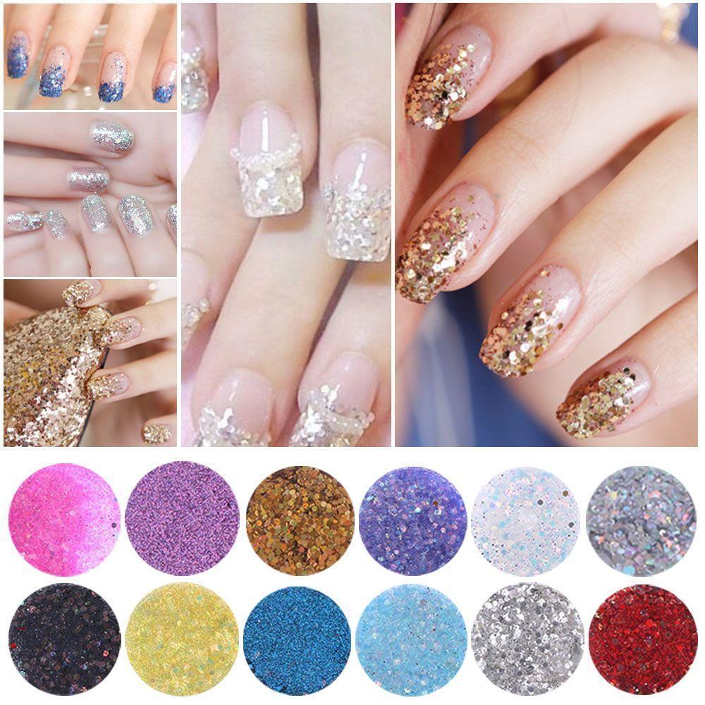 1.0AUD - Diy Acrylic Nail Art Manicure Nail Glitter Powder ...