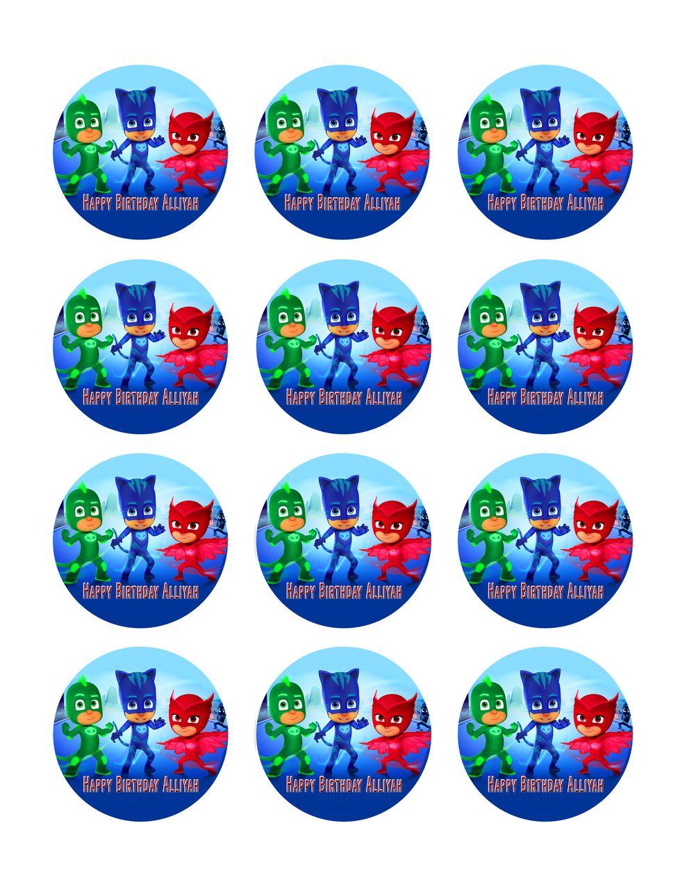 PJ MASKS (1) - Edible Cake Topper OR Cupcake Topper, Decor ...