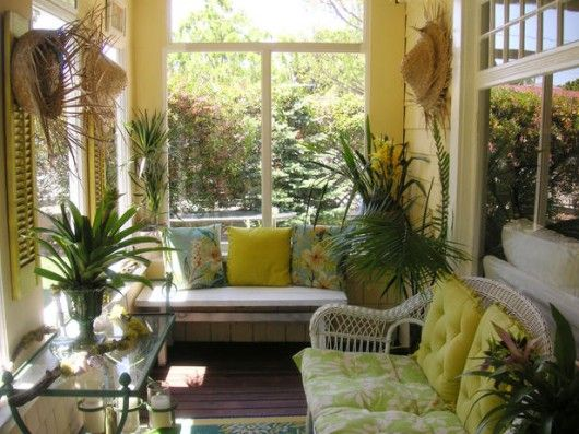 Small Sunroom Furniture Ideas | ... The Coast to Tropical Sunroom Decorations - Sunroom Ideas - Zimbio & Small Sunroom Furniture Ideas | ... The Coast to Tropical Sunroom ...