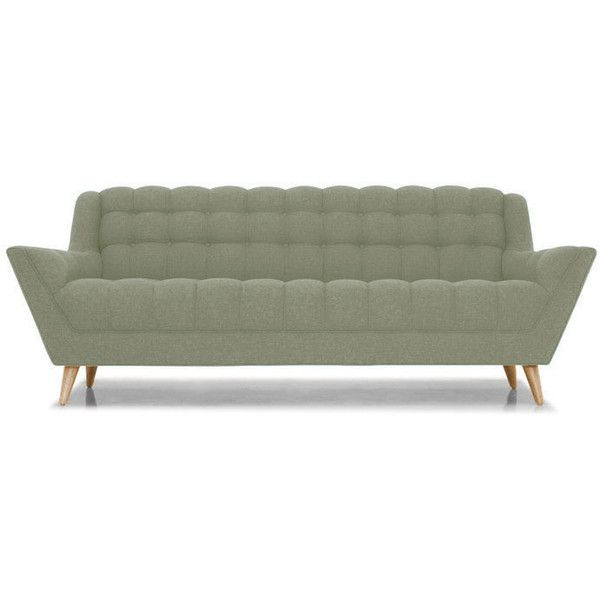 Fitzgerald Mid Century Modern Green Sofa featuring polyvore ...