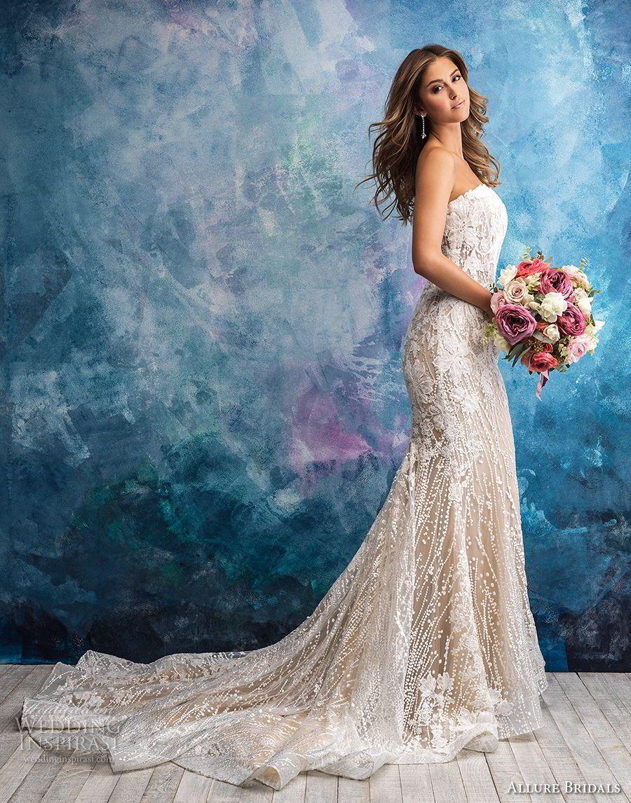Allure wedding dress  Allure Bridals Fall  Wedding Dresses  F  Gowns  Pinterest