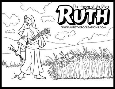 The Heroes Of The Bible Coloring Pages Ruth Bible Coloring
