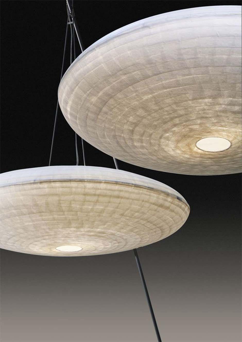 Zen luminaire suspension grand mod le en papier japonais for Modele luminaire suspension