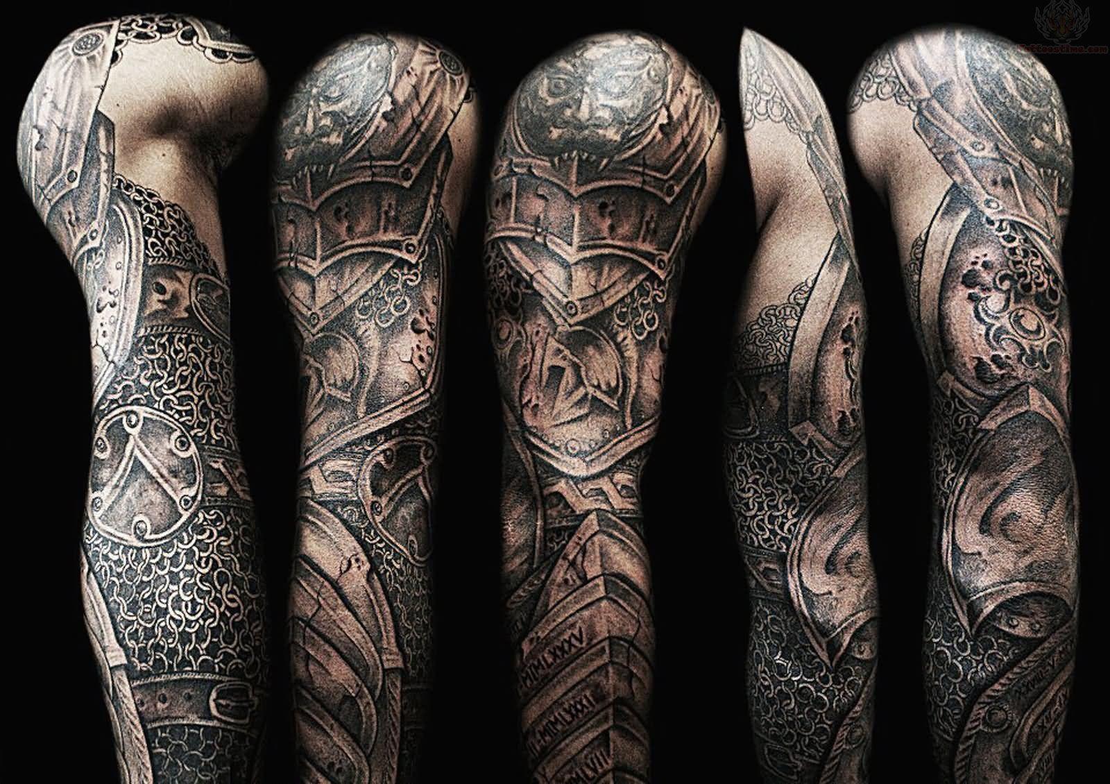 Viking, sleeve tattoo on Armor sleeve