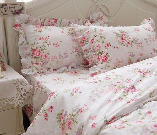 Details About Shabby Chic Pretty Roses Garden Duvet Cover