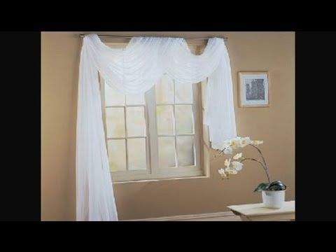 Wonderful How To Fold A Scarf For Window Decorating : Unique Interior Decorating  Ideas   YouTube. Swag CurtainsHanging ...