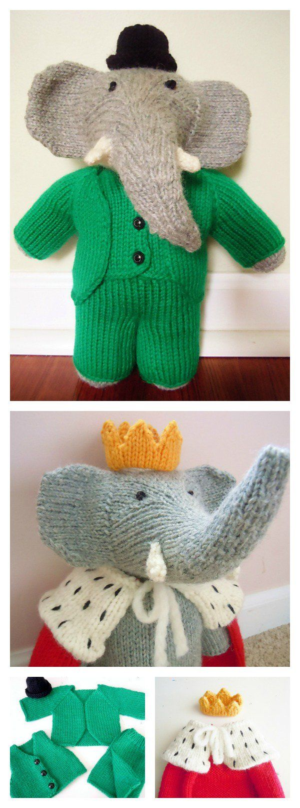 knitting elephant toy free patterns doudou pinterest tricot doudou et animaux tricot s. Black Bedroom Furniture Sets. Home Design Ideas