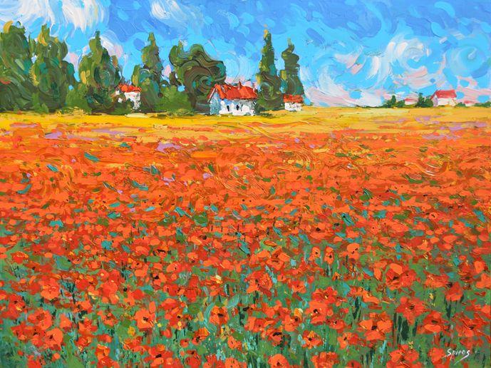 Poppy Field by Spirosart.deviantart.com on @deviantART