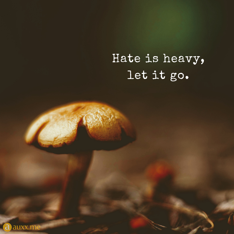 Hate Is Heavy Let It Go Mushrooms Hate Fungus Flower Quotes
