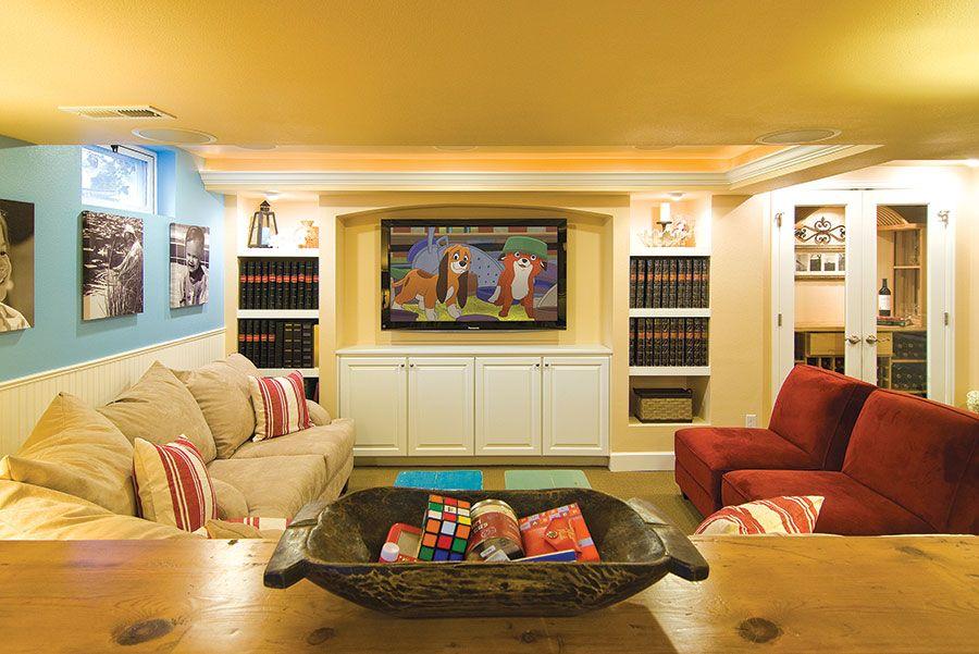 Basement TV Wall | Basement Home Theaters & TV Walls | Pinterest ...