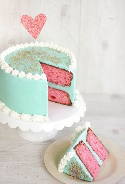 This Cake Is Beautiful My 2 Favorite Colors Vanilla Layer Recipe Cherry