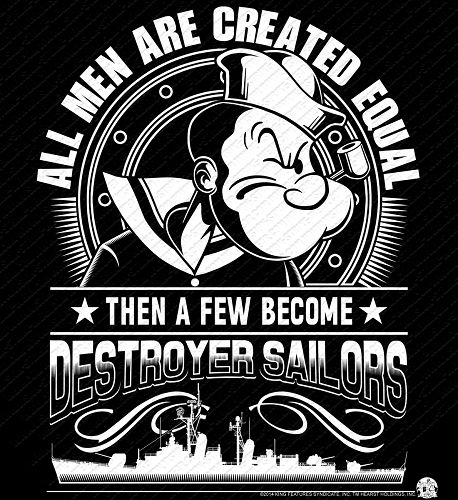 Popeye Tin Can Sailor All Men Are Created Equal Shirt