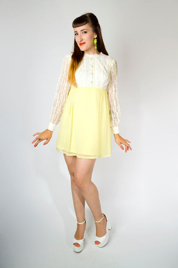 vintage chiffon mini dress