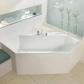 Villeroy \ Boch Subway Die Sechseckbadewanne aus Acryl besticht - badewanne eingemauert modern