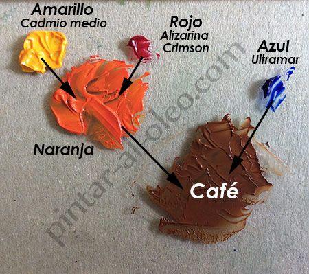 C mo hacer color caf o marr n con pintura pintar al - Mezcla de colores para pintar ...