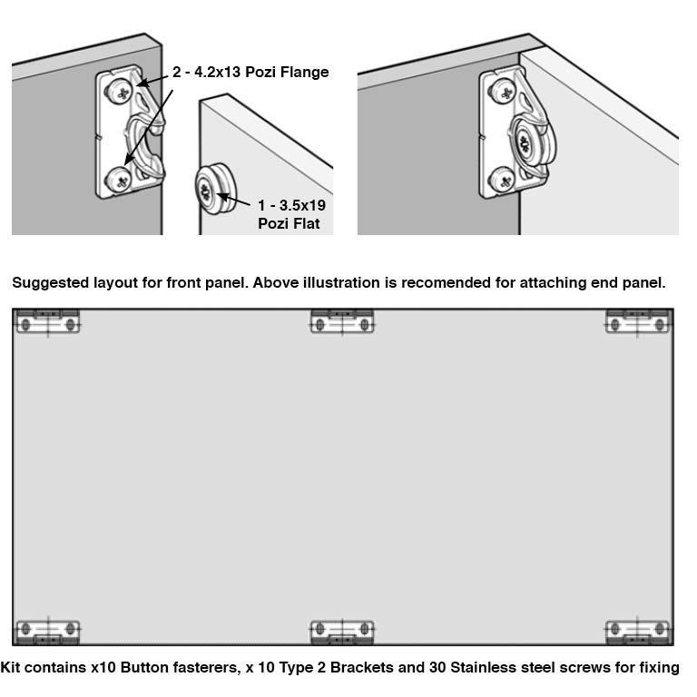 Hidden Bath Panel Easy Fit And Removal Complete Kit Inc Marine Grade Screws Bathroom Wall Panels Hidden Bath Bath Panel