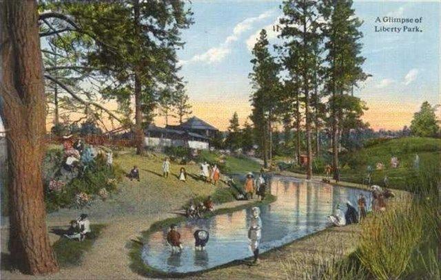 Spokane History 1908 Liberty Park Spokane Spokane Washington Park