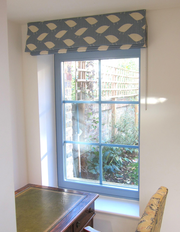 Roman Blind in Vanessa Arbuthnott Bird Hop Teal Fabric | Vanessa ...
