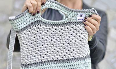 Anleitung für lässige Häkeltasche   Tasche häkeln, Stricken