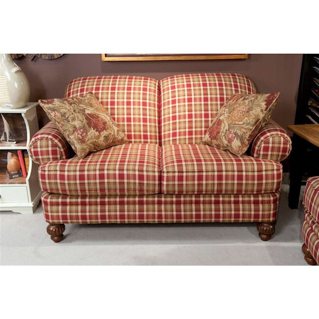 Plaid Furniture Country Living Room: Hudson Street Autumn Living Room Loveseat..Charming!