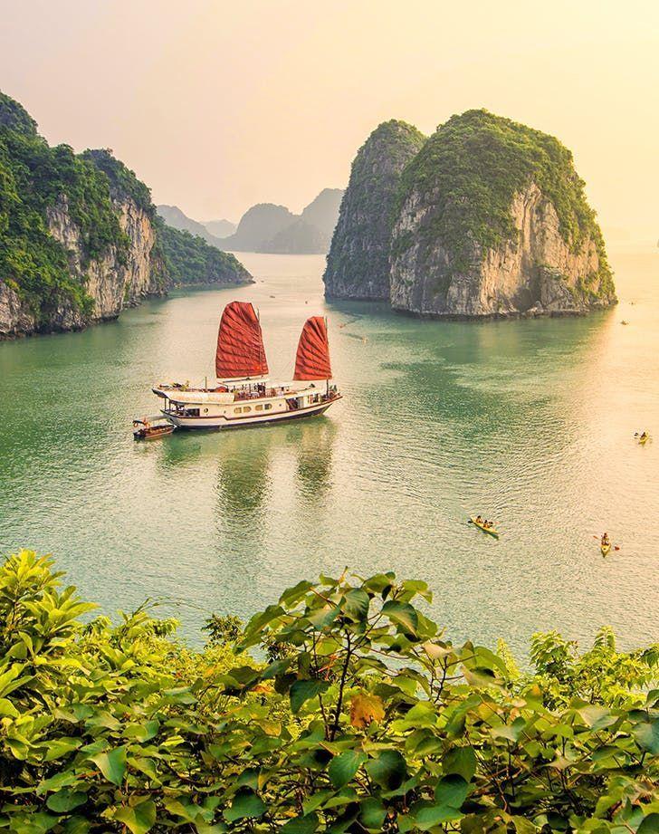 #Experience the karst #landscape of #Ha #long #Bay on a #2DayCruise! #CoolPlacesToVisit #PlacesToTravel #PlacesToGo #AmazingDestinations #TravelDestinations #TravelPhotography #TravelBucketList #Vietnam #PlacesAroundTheWorld #TravelAroundTheWorld #Halongbay #WondersOfTheWorld #PlacestoSeeBefore30 #Halong #HalongBayVietnam #Islands #CoolvacationIdeas #SeeMore #BucketList #TravelGuide #TravelBucketList #TravelChecklist #PlacestoSee #HạLongBay