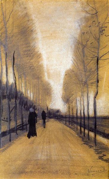 Vincent Van Gogh Poplar Trees 1884 Vintage Print