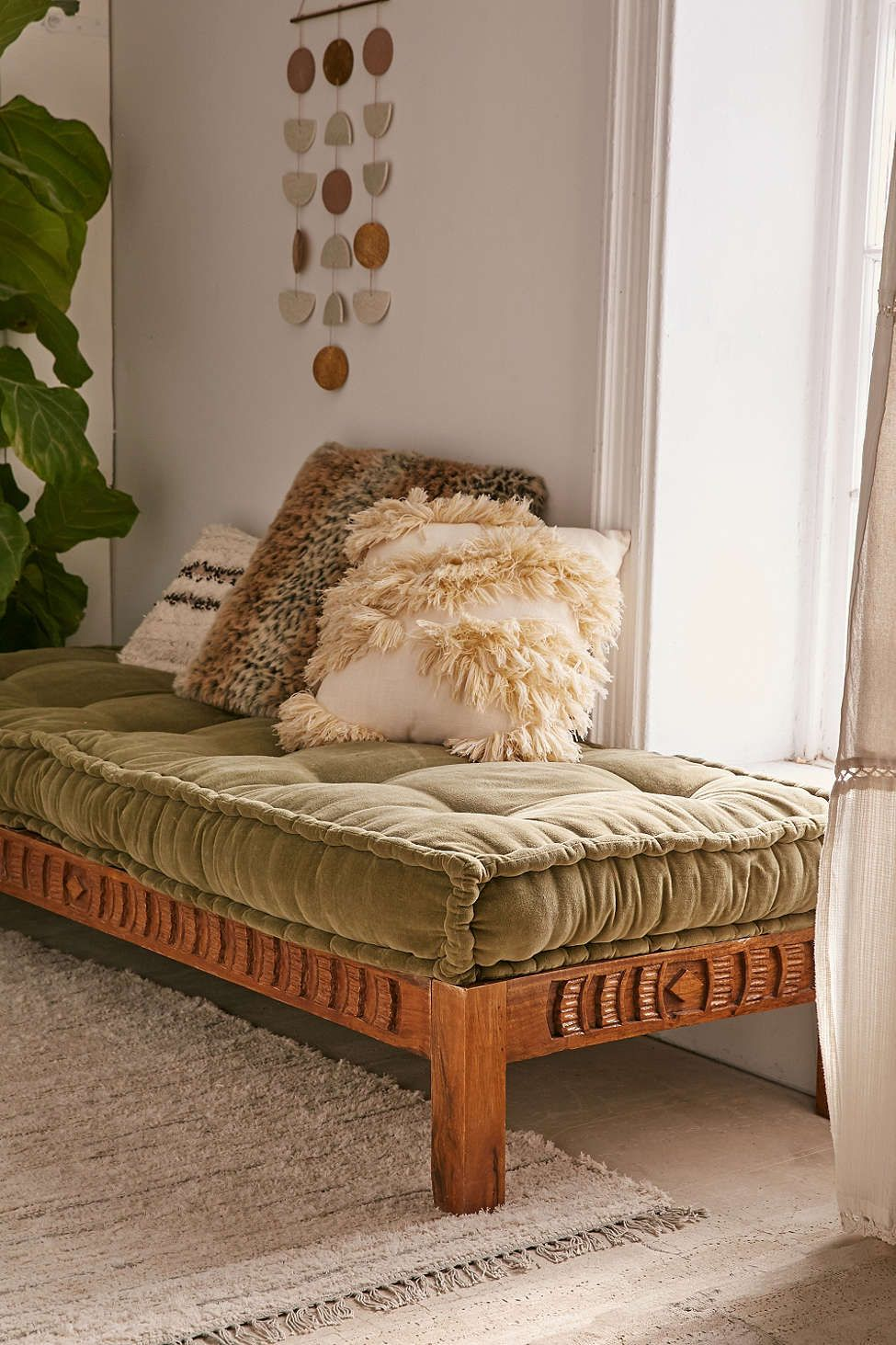 Rohini Velvet Daybed Cushion Deco Wood