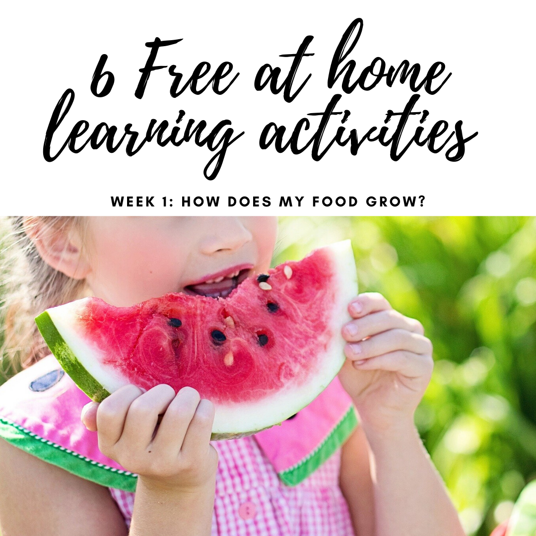 Free At Home Educational Activities About Agriculture: Week 1