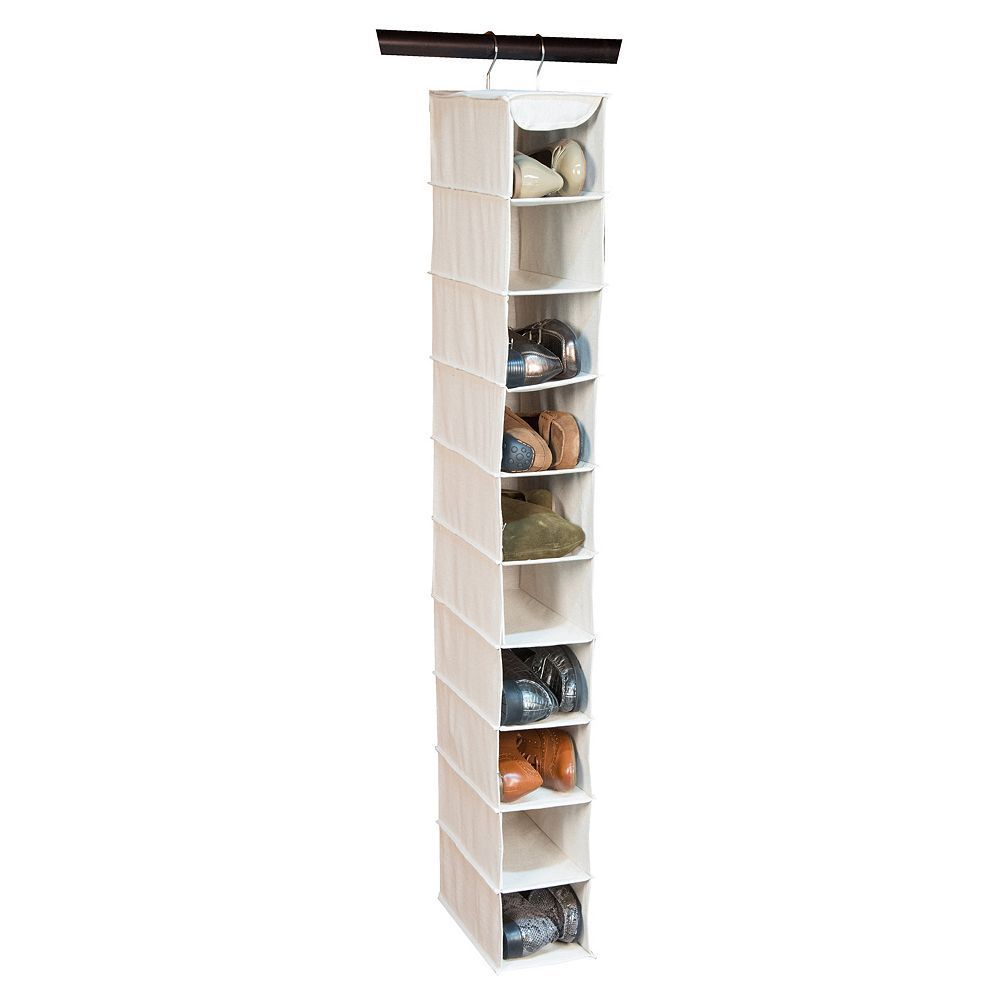 Richards homewares loft natural pocket hanging shoe organizer
