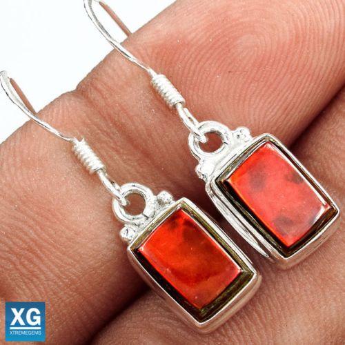 Genuine-Canadian-Ammolite-925-Sterling-Silver-Earrings-Jewelry-SE27215