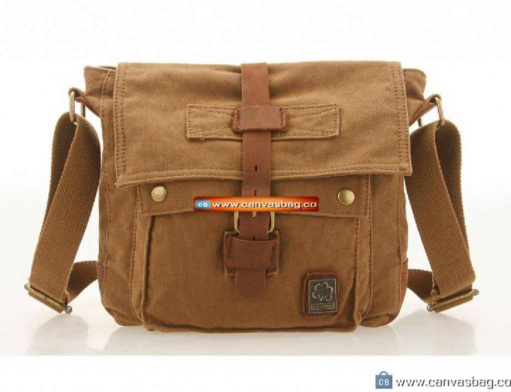 Canvas Shoulder Bag Khaki