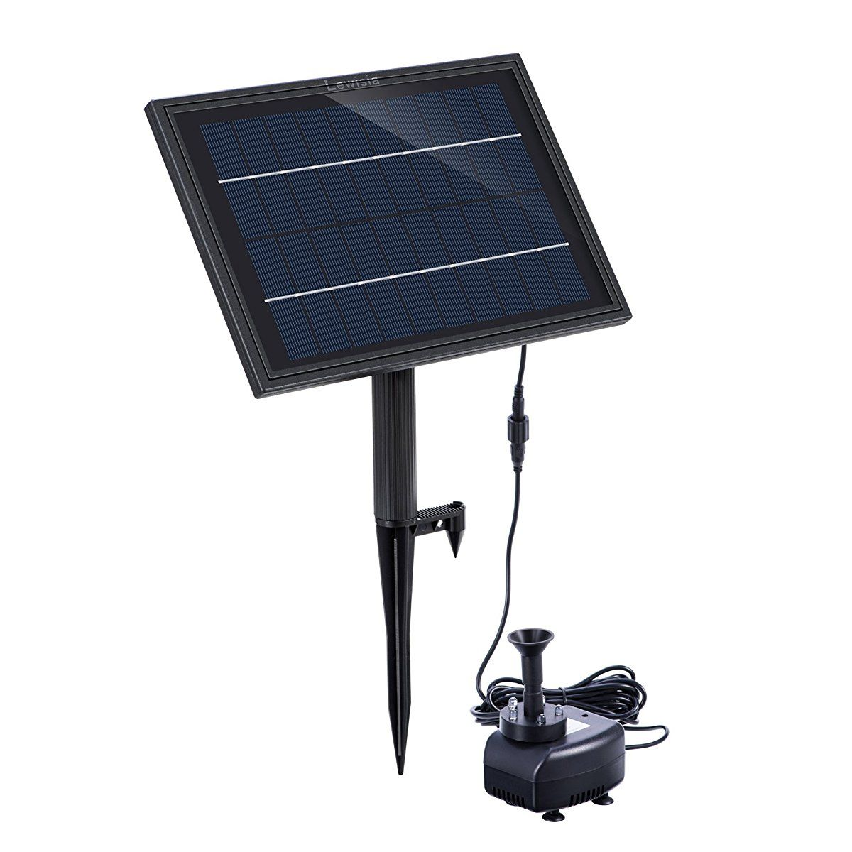 Lewisia Battery Backup Solar Fountain Pump with LED