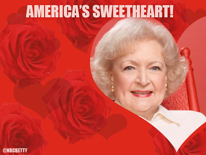 Happy Valentine S Day Betty White Golden Girls Hollywood Legends